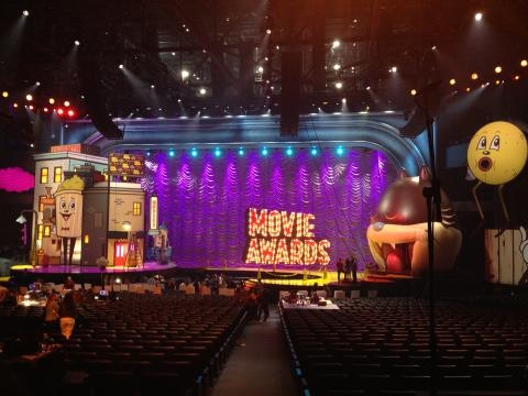 The Movie Awards set at the Nokia Theatre.