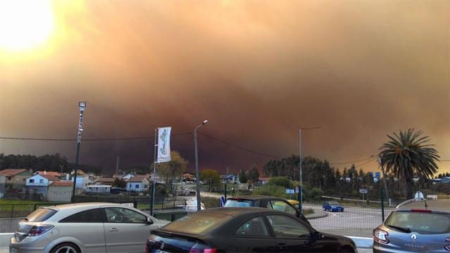 Incêndio lavra junto a Albergaria-a-Velha