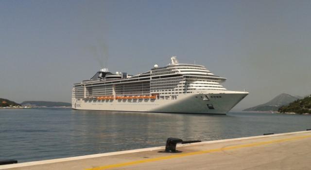 Um dos navios abertos ao público, o MSC Divina