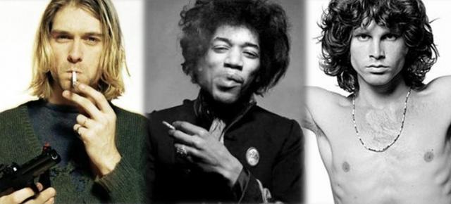 Cobain, Hendrix y Morrison; fundadores del Club 27