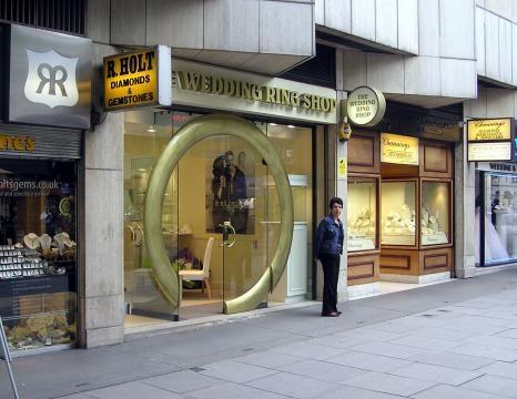 Shops in Hatton Garden, London