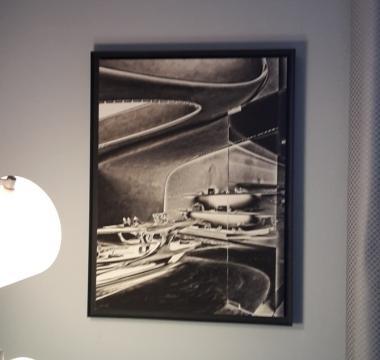 Una delle opere in mostra a Home&More