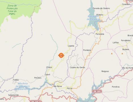 Xertelo é aldeia mais próxima da zona do acidente.