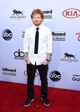 Ed Sheeran en la alfombra roja de los BIllboard