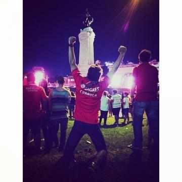 Jorge Corrula festeja a vitória do Benfica