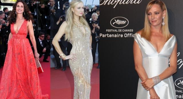Andie Macdowell, Paris Hilton e Uma Thurman