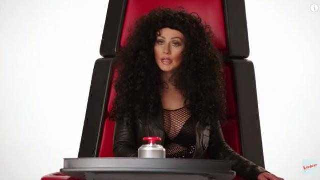 Christina como la inigualable Cher