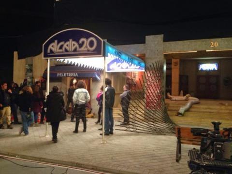 Escenario que reconstruye la discoteca Alcalá 20