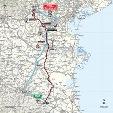 L'itinéraire de cette 12e étape du Tour d'Italie !