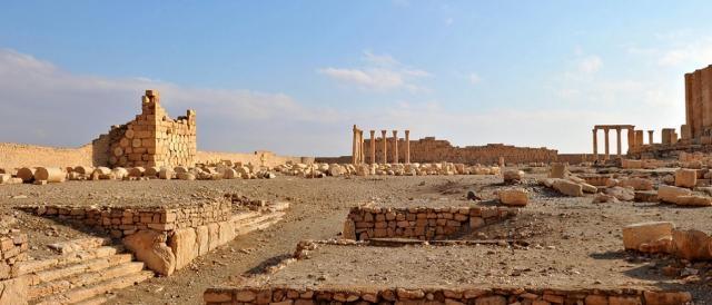Una vista panoramica di Palmira