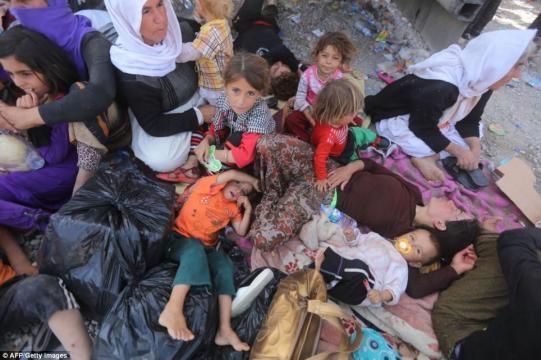 Refugiados da Síria sobrevivem