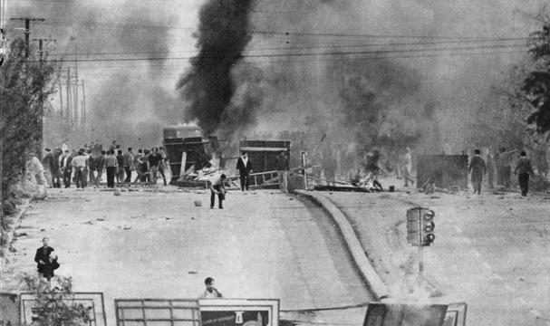 Barricada en Córdoba.Mayo de 1969