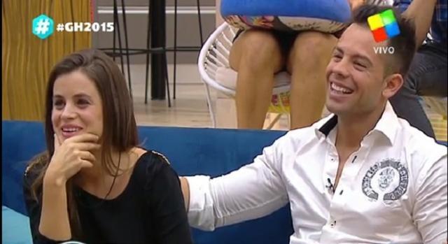 Camila junto a Mariano,  antes de la eliminación.