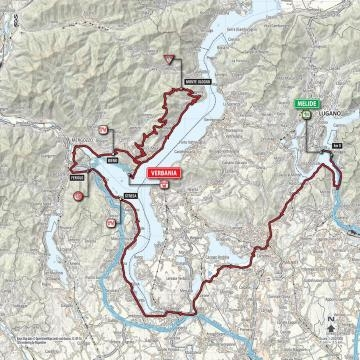 L'itinéraire de cette 18e étape du Giro !