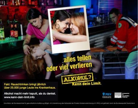 kenn-dein-limit Kampagne gegen Alkohol