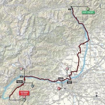 L'itinéraire de cette 20e étape du Giro !
