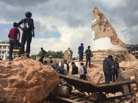 Ruínas provocadas pelos terramotos