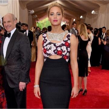 Jennifer Lawrence luciendo un Dior