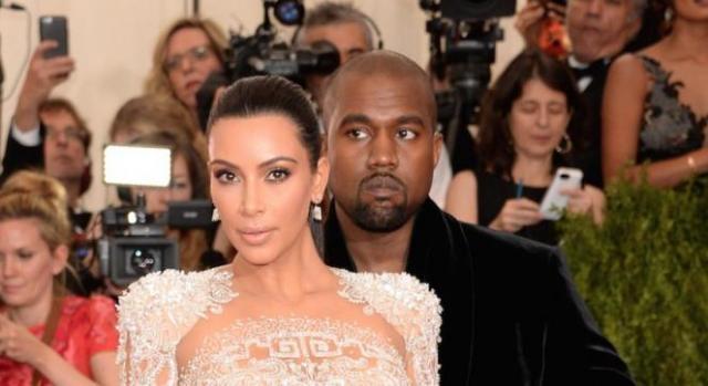 Kim Kardashian com o marido Kanye West