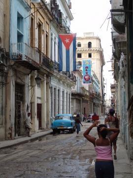 Calle céntrica, La Habana, Cuba