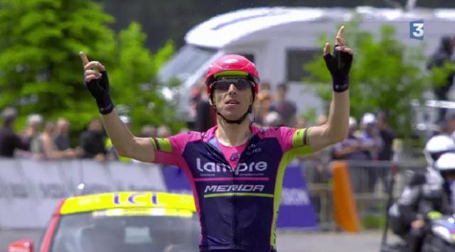 Dauphiné :Rui Costa gagne l'étape, Nibali en jaune