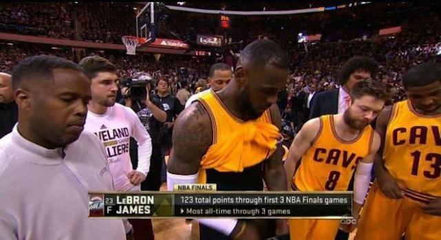 LeBron James : ABC le filme accidentellement.