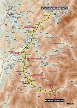 L'itinéraire de cette 8e étape du Dauphiné !