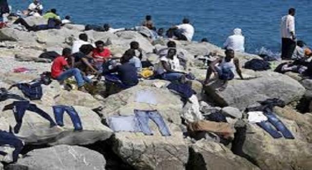 Migranti bloccati a Ventimiglia.