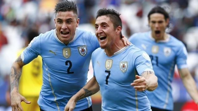 Rodríguez festeja su gol frente a Jamaica