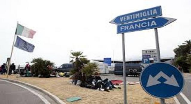 Ventimiglia, confine tra Francia e Italia.