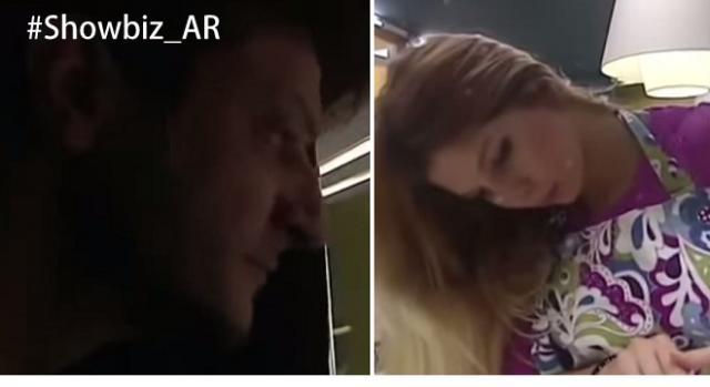 Romina mirada fijamente por un productor