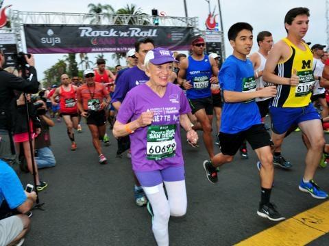 Harriette Thompson au marathon de San Diego !