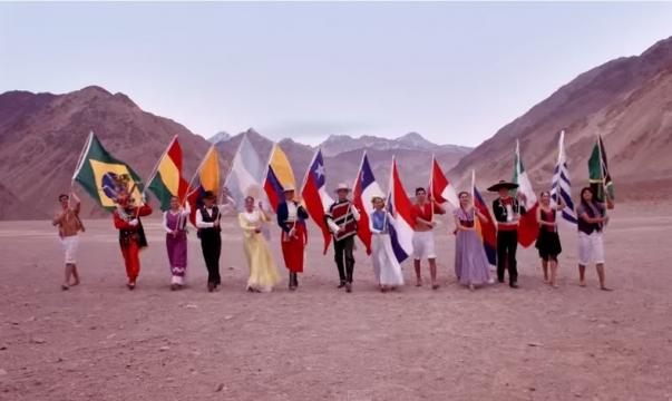 Los países participantes presentes en el videoclip