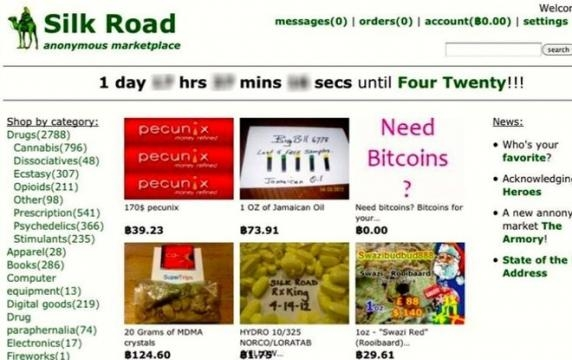 The Silk Road marketplace