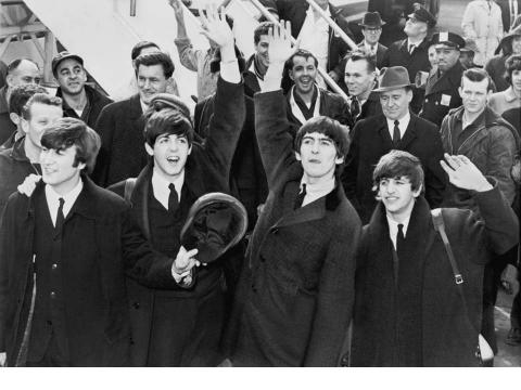 The Beatles en su primera gira por América