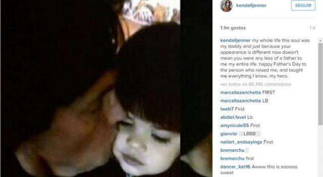 Também Kendall partilhou imagem feliz no Instagram