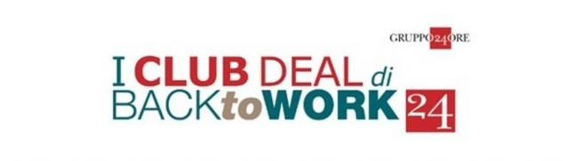 I Club Deal di BacktoWork24