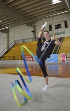 Camila Giorgi entrenando en el club Banco Cordoba