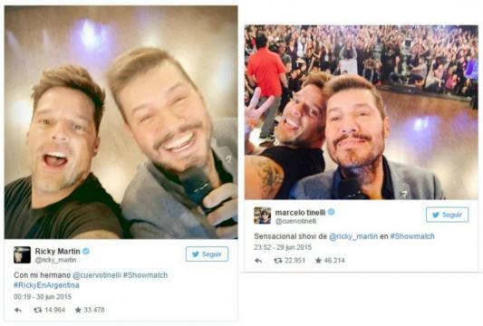 2 selfis de Ricky y Marcelo para tener un recuerdo