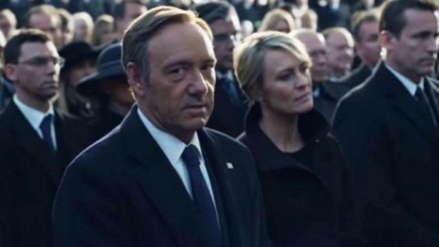 Frank und Claire beim Wahlkampf