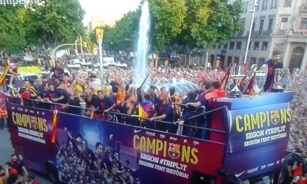 Rúa post-Final Champions League
