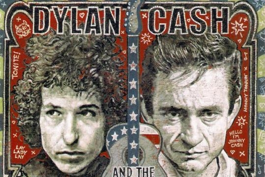 Rock meets country: Bob Dylan and Johnny Cash