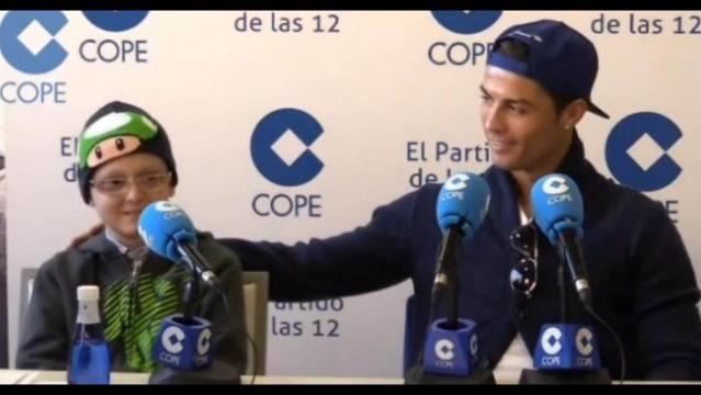 Cristiano costeó tratamientos de niños con cáncer
