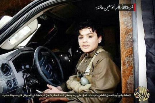Adolescente sirio en coche bomba (Baiji, Irak)