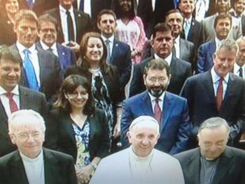 El Papa Francisco y los 50 alcaldes en el Vaticano