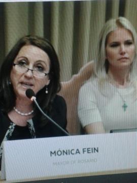 Mónica Fein y Valeria Mazza
