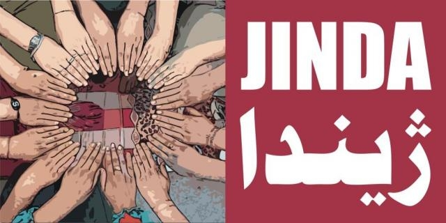 Il logo del nuovo centro Jinda a Duhok in Iraq