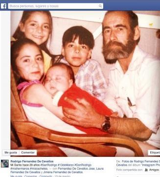 Diego Fernández de Cevallos y sus cuatro hijos.