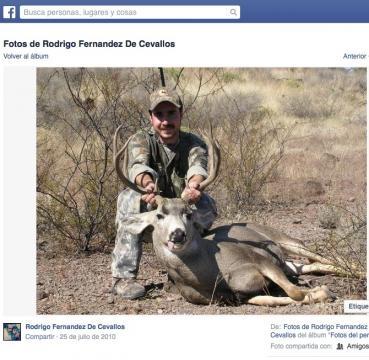 Fernández de Cevallos caza venado.