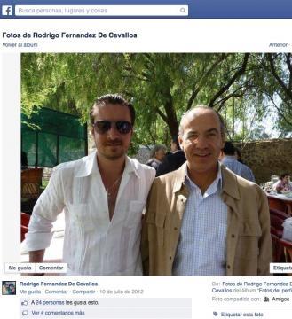 Rodrigo Fernández de Cevallos y Felipe Calderón.